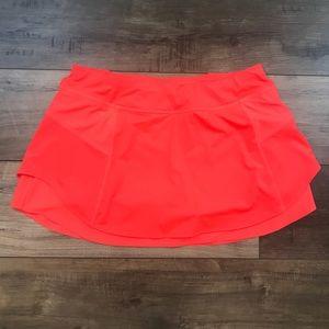 Athleta Bustle Tennis Skirt Shorts Orange Large